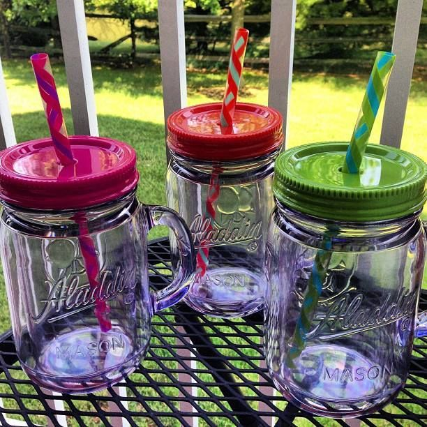 Summer Must Have Plastic Mason Jar Straw Cups Complicated Mama Plastic Mason Jars Mason Jar With Straw Mason Jars