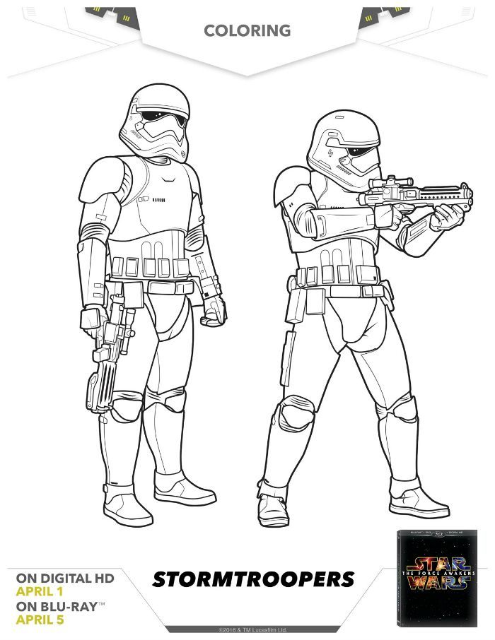 Star Wars Stormtroopers Coloring Page Language Tools Pinterest