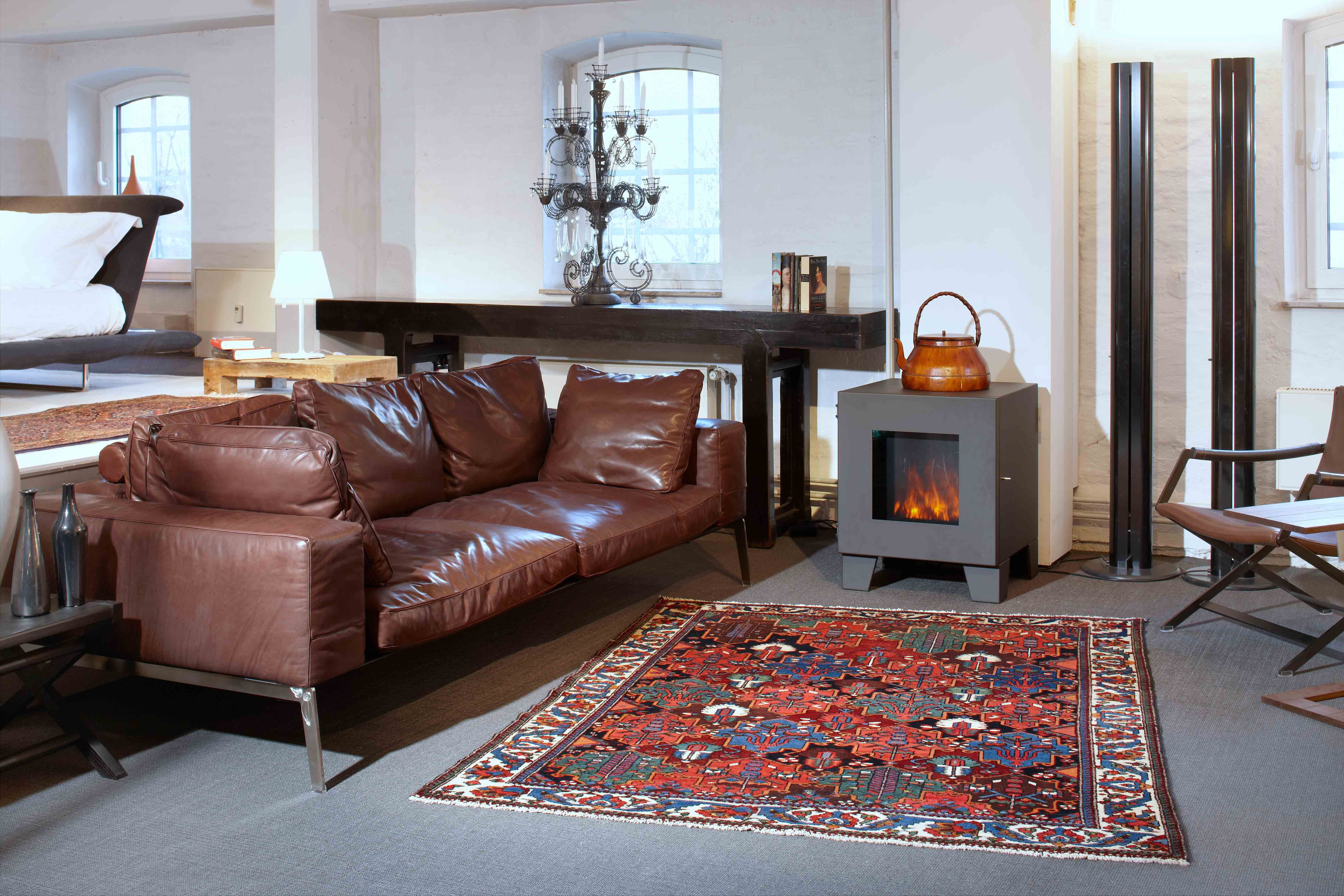A beautiful antique Bakhtiar Carpet in combination with modern furnitures!