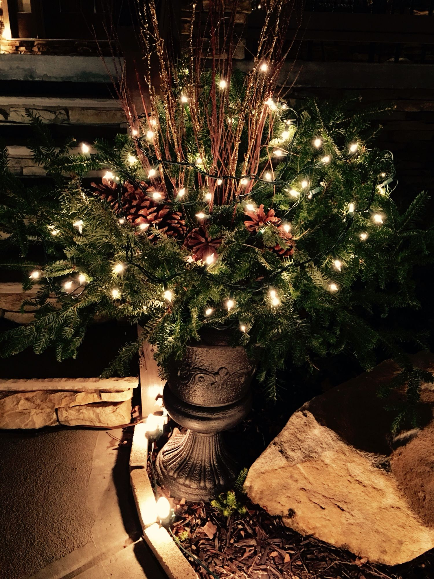 Inspirations Cozy Lowes Linoleum Flooring For Classy: Created A Outdoor Christmas Arrangement With Christmas