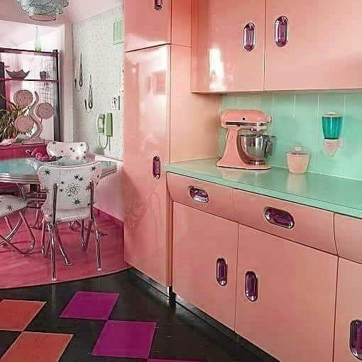 """1950's Kitchen. """"The Things They Could Do With Formica"""