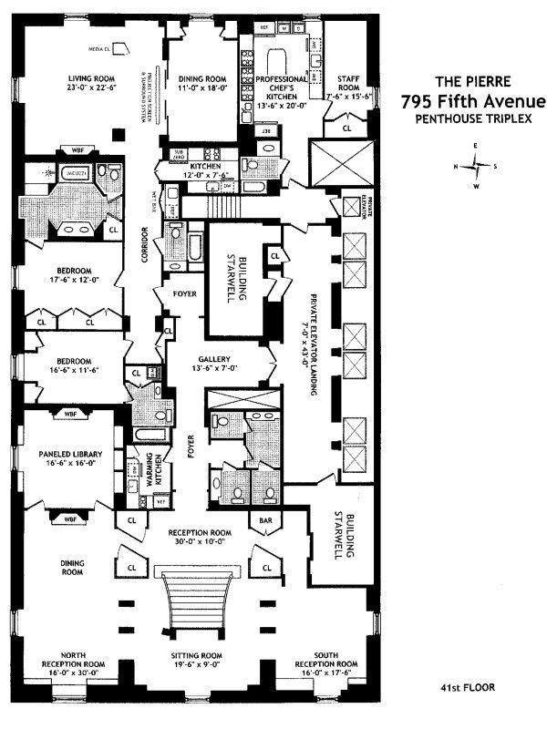 Streeteasy The Pierre At 795 Fifth Avenue In Lenox Hill Phe Phw Sales Rentals Floorplans Streeteasy Condo Floor Plans Floor Plans Luxury Floor Plans