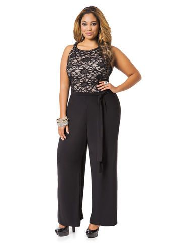 ee25c287e1e Lace Halter Top Jumpsuit - Sassy. Thick Girl Fashion