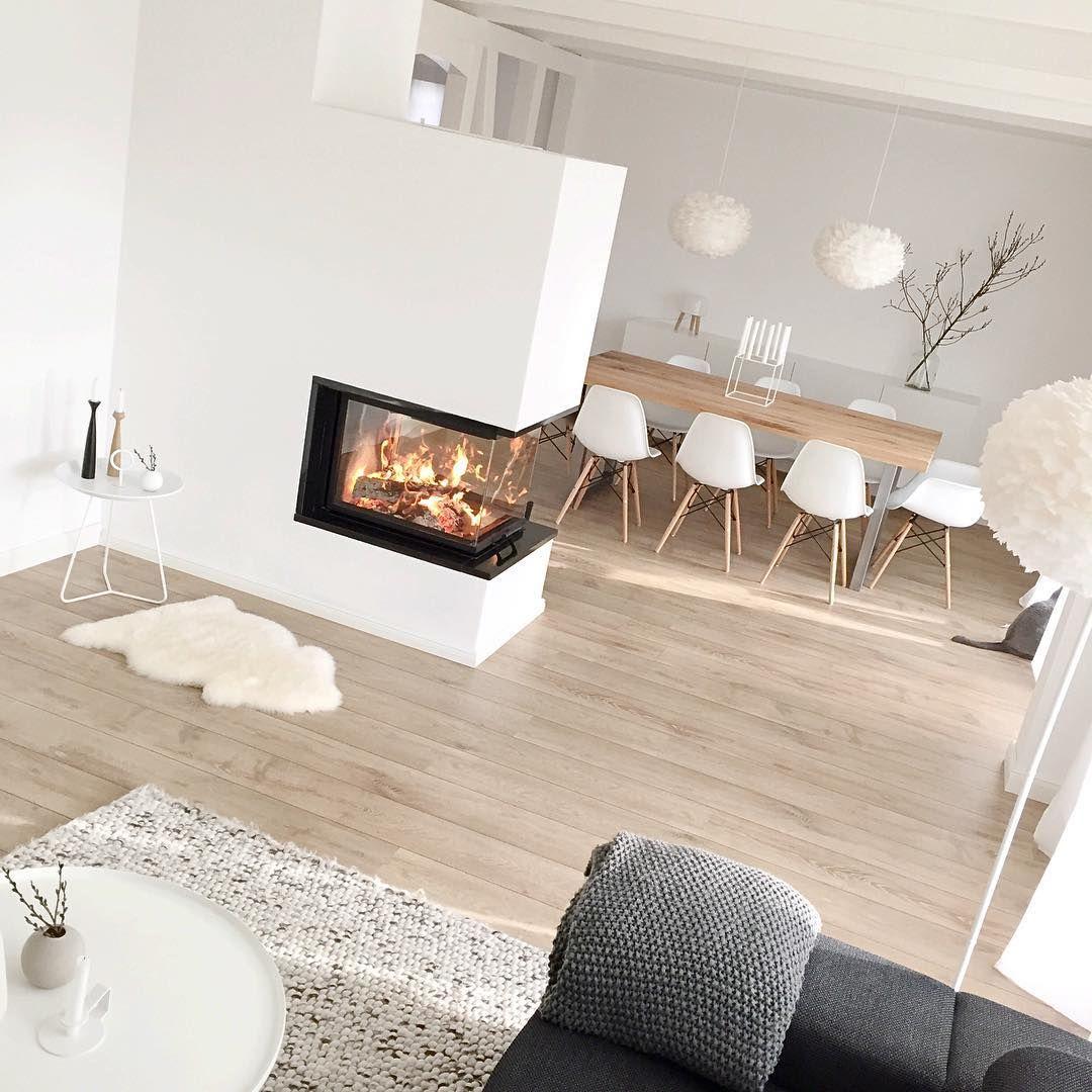 Un #salon #scandinave ! #blanc Http://www.m