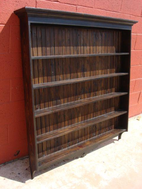Antique Pine Plate Rack Antique Wall Shelf Antique Cup Holder ...