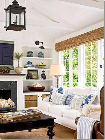 Empty Nesters Before After Coastal Decorating Living Room