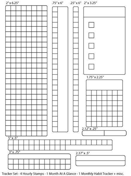 Calendar Stamp Bullet Journal : Clear stamp tracker set bullet journal stempel für