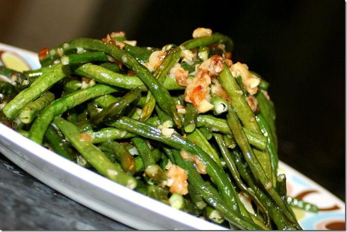 Cook Lisa Cook Long Beans With Garlic Veggie Recipes Long Bean Veggie Sides