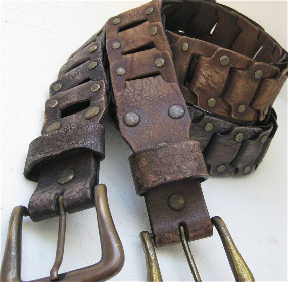 These antique brass buckled belts are great for bringing that vintage look back into your wardrobe