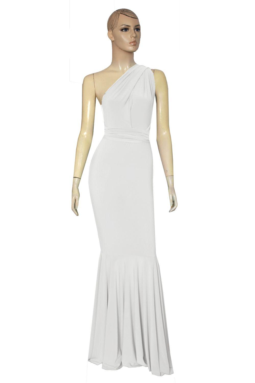 Mermaid wedding dress white infinity gown plus size