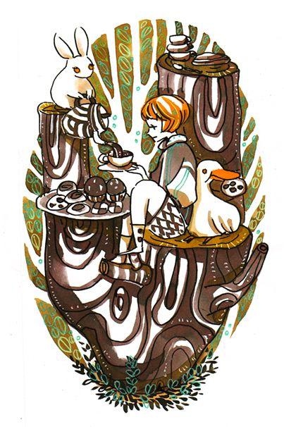 tea on tree by koyamori.deviantart.com on @deviantART