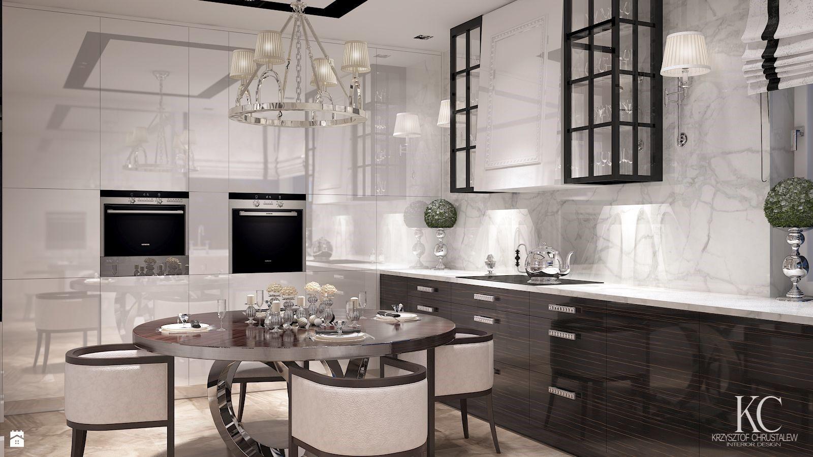Wystroj Wnetrz Kuchnia Styl Glamour Projekty I Aranzacje Najlepszych Designerow Prawdziwe Inspiracje Dla Kazdego Dla Kogo Liczy Home Decor Decor Kitchen