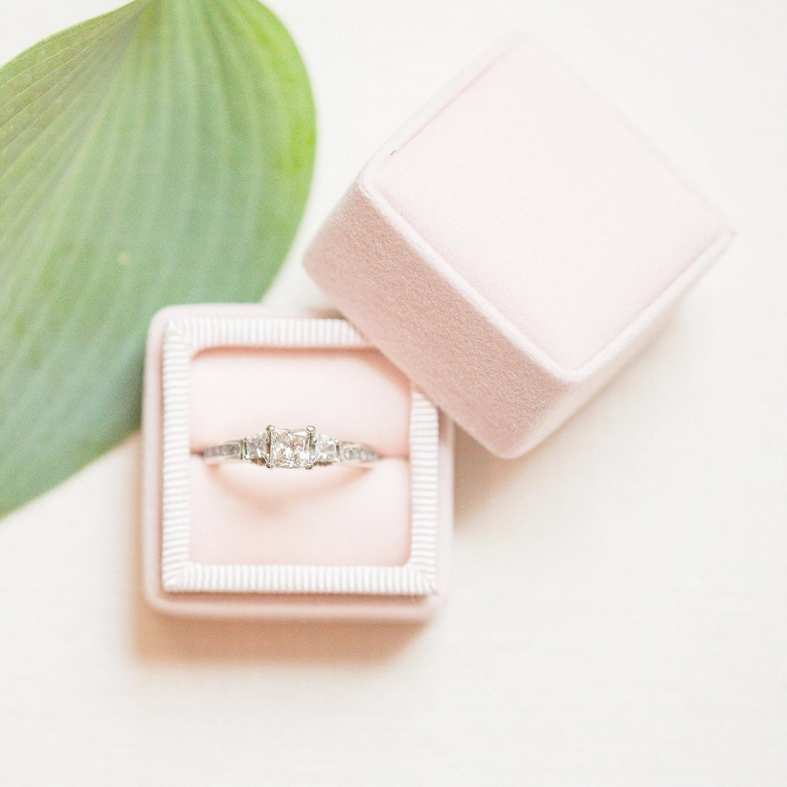 Matte Blush Pink Handmade Ring Box For Wedding Rings Handmade Ring Box Etsy Wedding Rings Vintage Ring Box