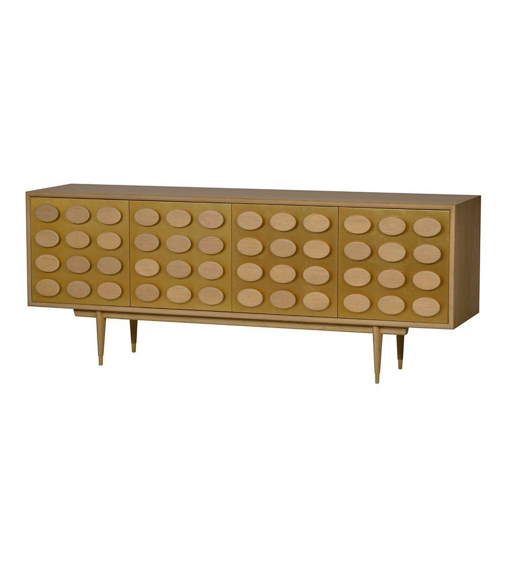 Brando 4 Door Sideboard Golden Lacquer Furniture Collection