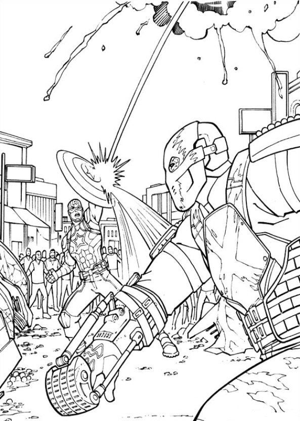 Coloriage Captain America Civil War.Coloring Page Captain America Civil War Captain America
