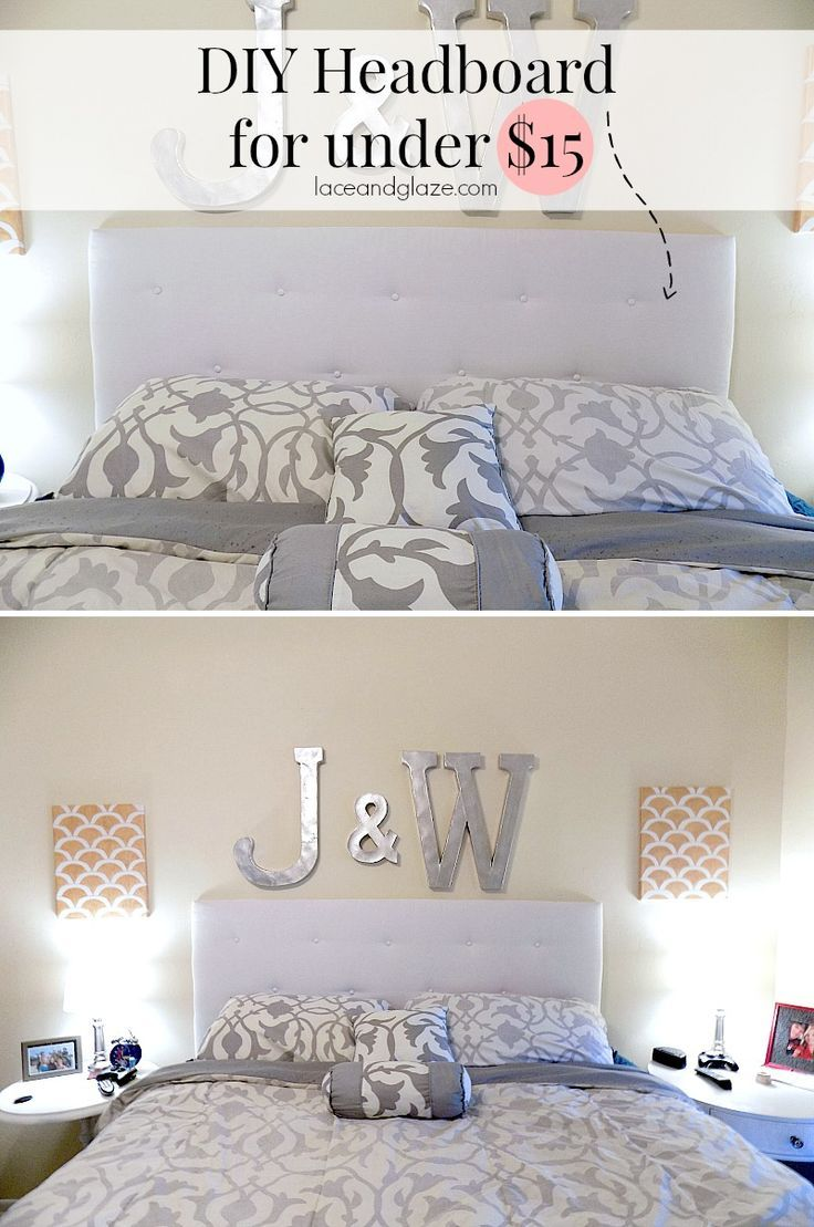 DIY Headboard for under 15 Super easy