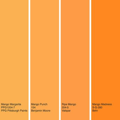 houzz color of the week mango use a bit of bold fun