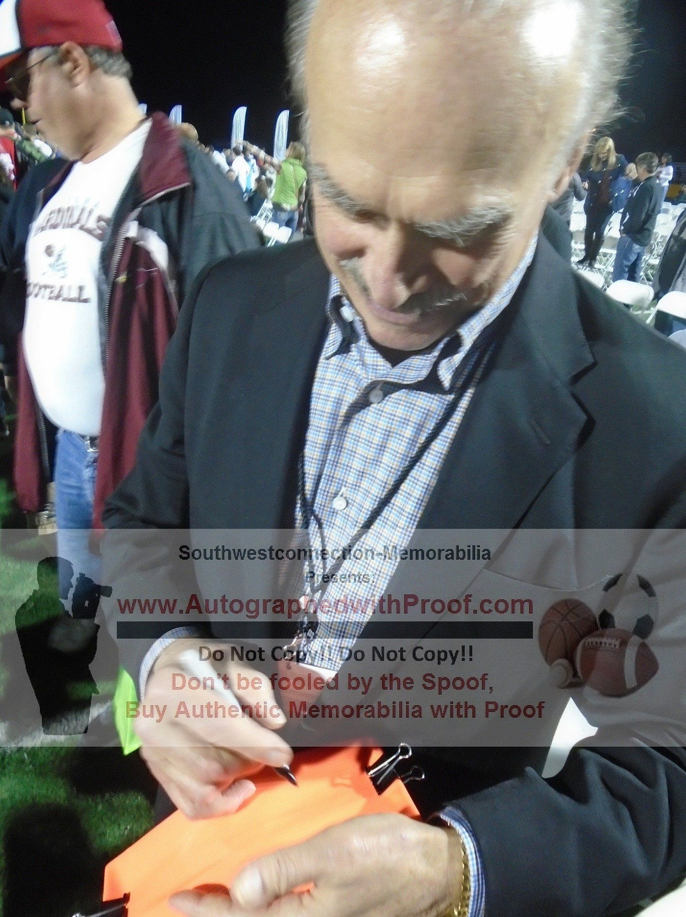 9e2d56136 This is a brand-new custom Rocky Bleier signed Super Bowl XIII full size  football end zone pylon featuring