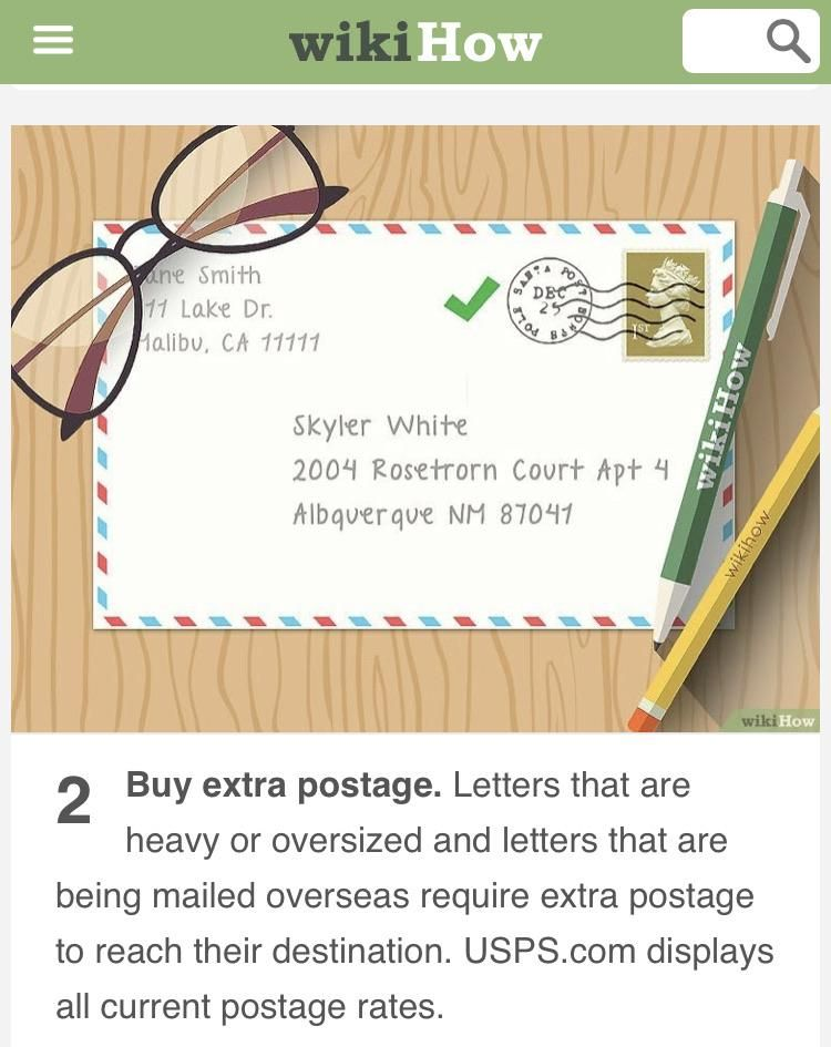 I Was Looking Up How To Mail A Letter And Noticed Who The Example