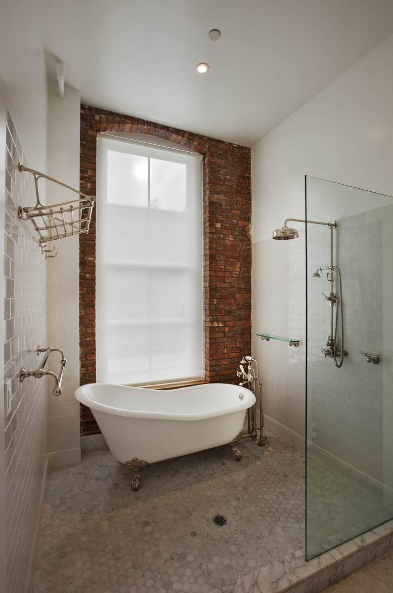 Stylish Old Fashioned Bathtubs for Beautiful Bathroom Decor: brick ...