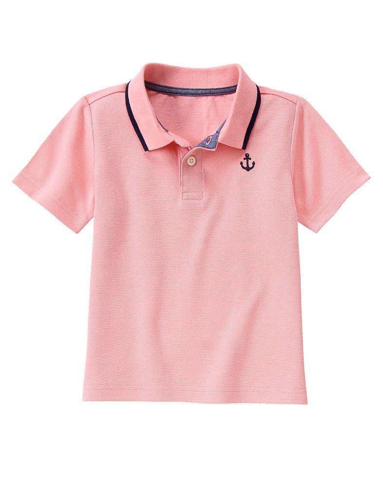 Gymboree Boy Preppy Pink Anchor Polo Shirt Gymboree Kids Outfits