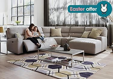 Eden Fabric Recliner Corner Sofa In On Furniture Village