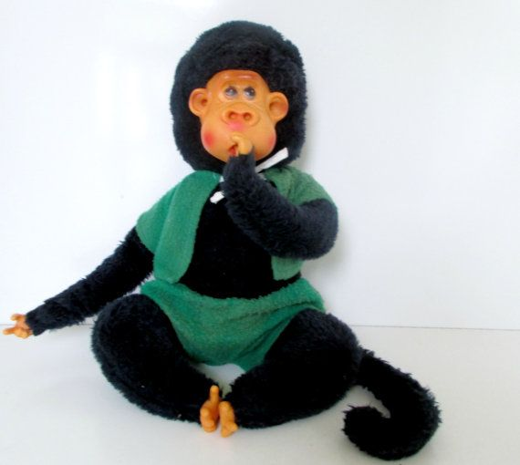 Stuffed Monkey With Fingers In Ears Nose Mouth Lots Of Fun Plush