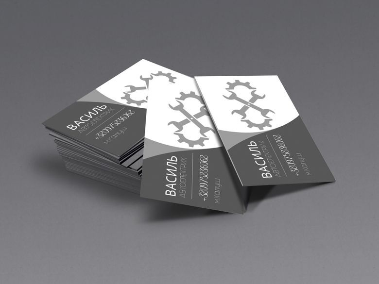 Business Card For Auto Electrician Business Cards Business Card Design Cards