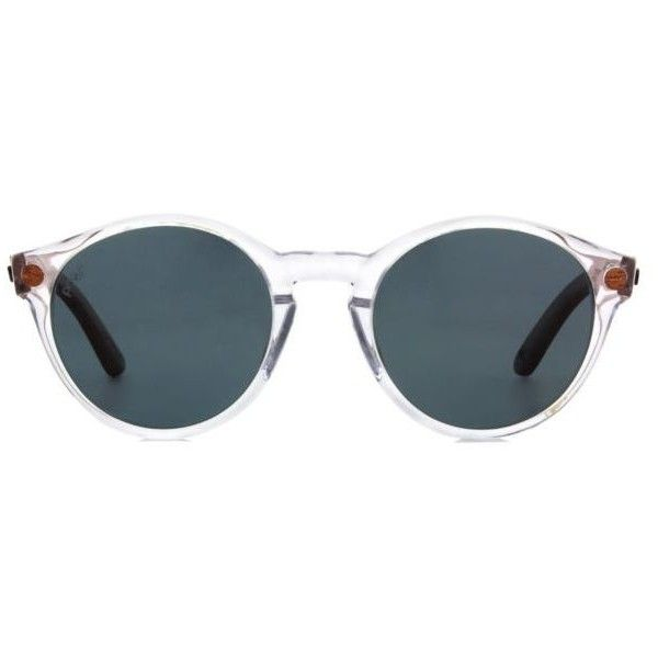 Proof Hayburn Women's Sunglasses ($95) ❤ liked on Polyvore featuring accessories, eyewear, sunglasses, crystal, proof eyewear, proof sunglasses, retro glasses, retro sunglasses and retro style sunglasses