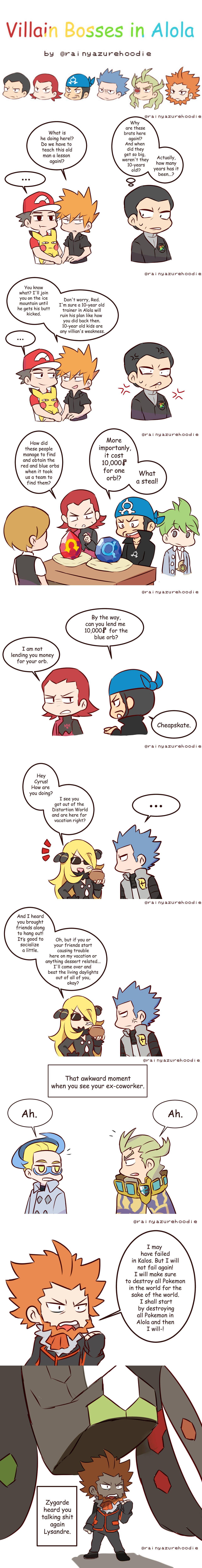 Haircut styles in pokemon sun and moon villain bosses in alola  meme moon and pokémon