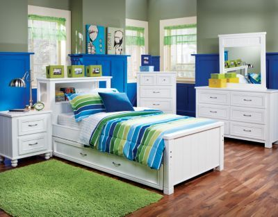 Cottage Colors Twin White 5Pc Bookcase Bedroom Sami\u0027s Big Girl