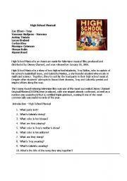 English worksheet: High School Musical | School stuff | High school ...