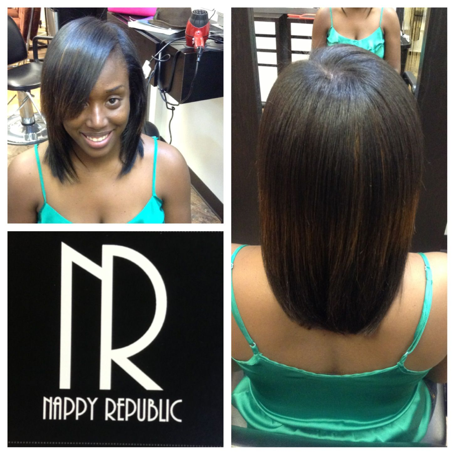 A Pop Of A Few Extensions To Enhance Her Natural Hair Pressed Out