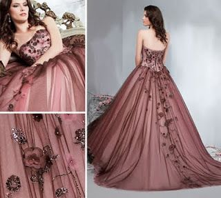 Non Traditional Wedding Dresses Wine Colored Dress