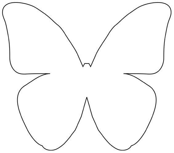 Butterfly Template Templates Patterns Pinterest Butterfly Magnificent Butterfly Pattern