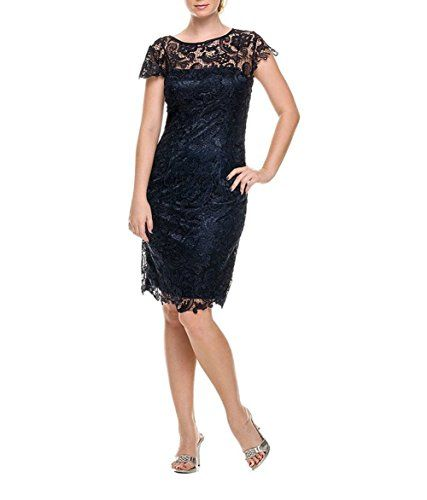 Ruiyuhong Short Lace Prom Gown Cap Sleeve Mother of the Bride Dress (22W,Navy Blue). Please do use our Size Chart Image on the left picture. Zipper back, fully lined with soft cup inserts. Dry clean only. This dress is Made-To-Order, Please refer to our size chart before you place the order. Any question about size, delivery-time or after-service, feel free to contact us, we will respond you within 24 hours.