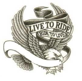 Eagle With Live To Ride Ride To Live Banner Tattoo Tattoo