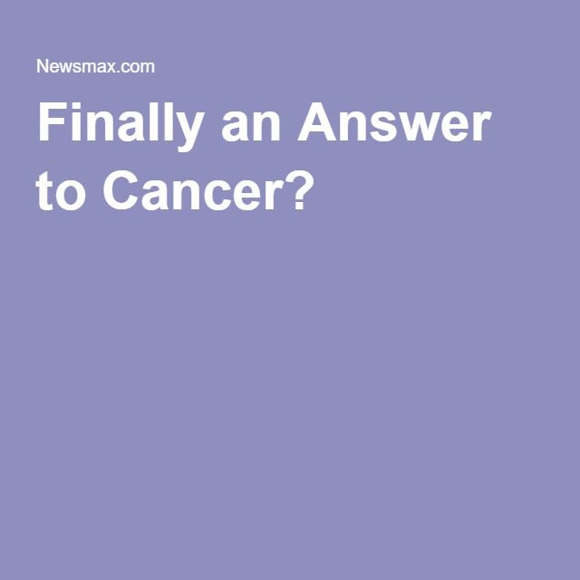 Finally an Answer to Cancer?