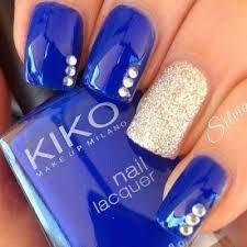 Resultado de imagen para uñas en animal print azul plateado