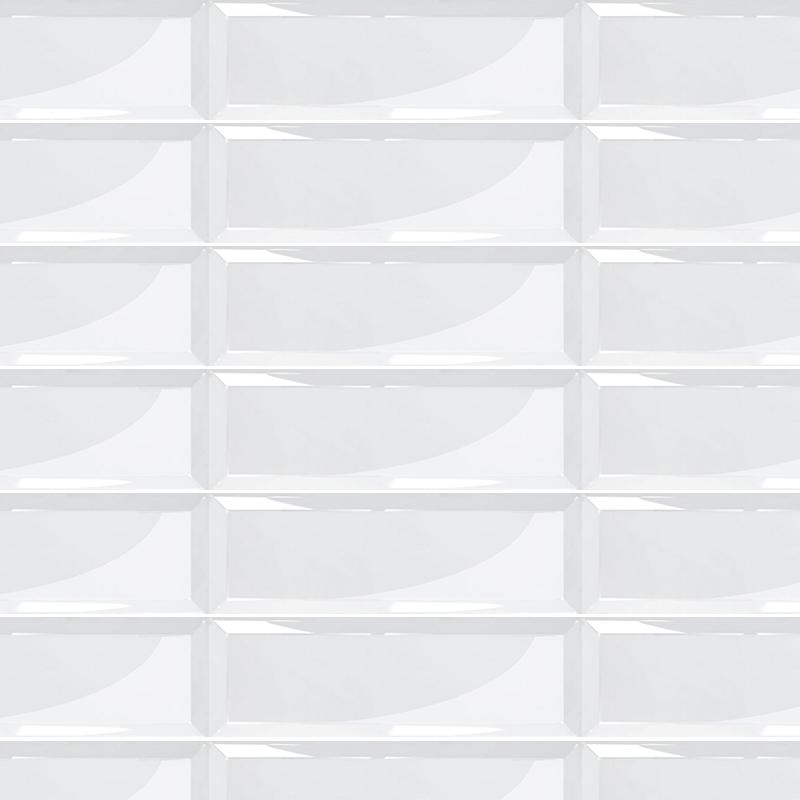 Carrelage Metro Grand Format Blanc Brillant 15x45cm Bo7403003