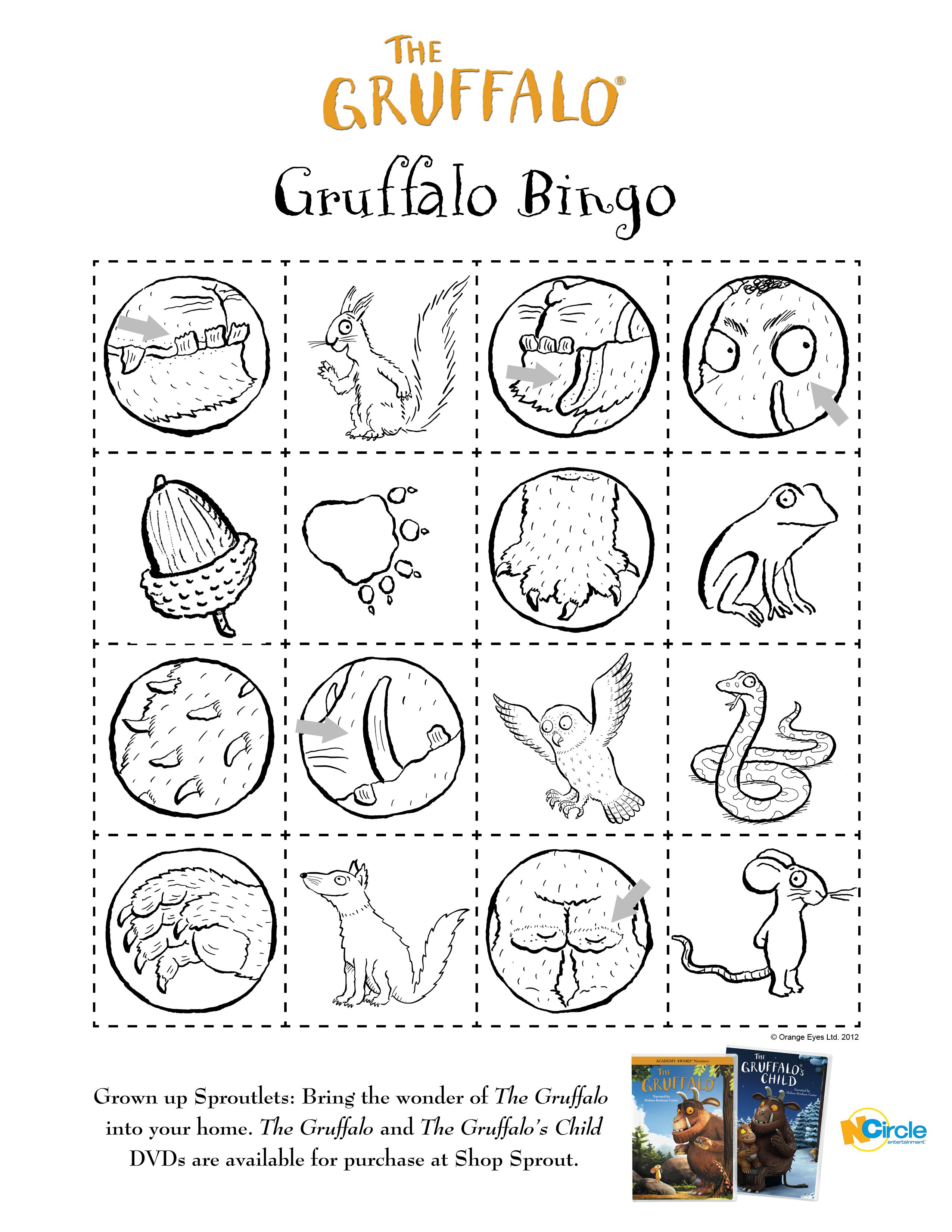 Bingo 2 | grüffelo | Pinterest | Grüffelo, Partyideen und Arbeitsblätter