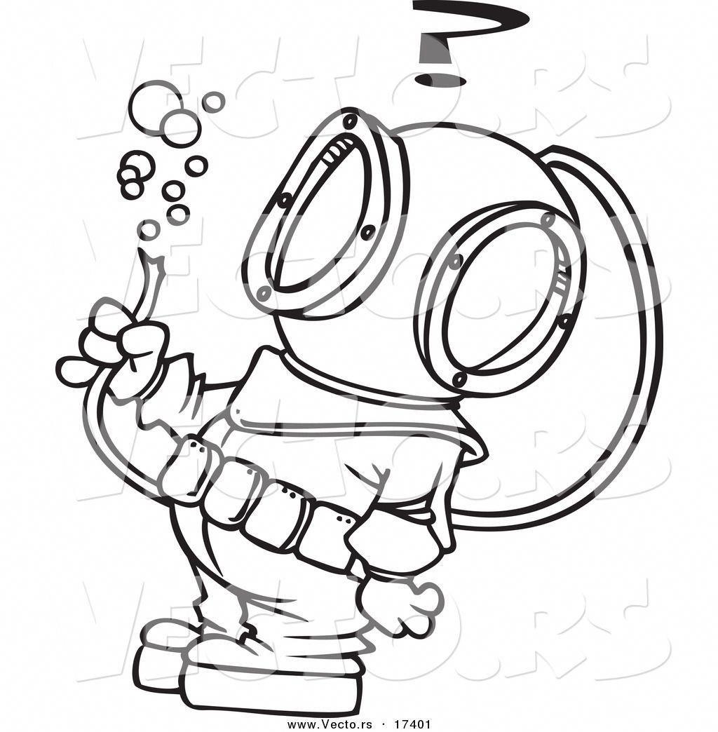 Scuba Diver Clipart Outline 5 Scubadivingart Taube Zeichnung Tauchen Zeichnungen