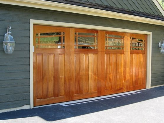 12 Foot Wood Garage Door With Custom Made Home Interiors Garage Doors Wood Garage Doors Wooden Garage Doors