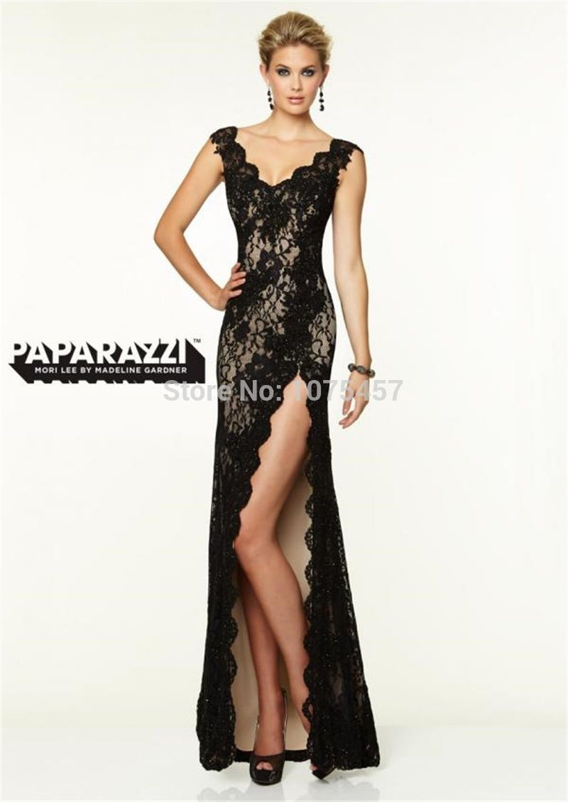 Click to buy ucuc latest design sexy high slit prom dresses v