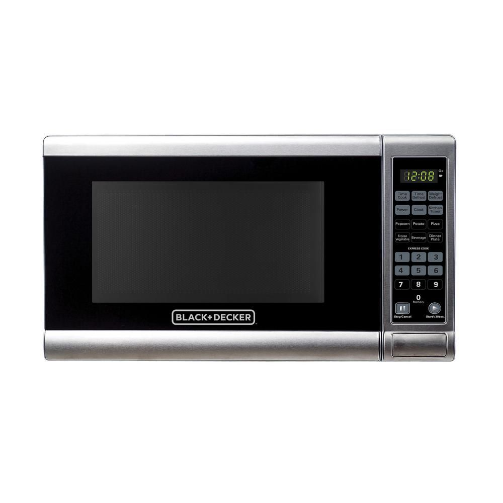 Black Decker 0 7 Cu Ft Countertop Small Microwave In Stainless