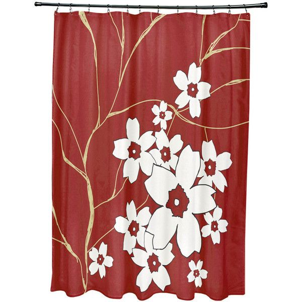 71 x 74-inch Floral Spray Shower Curtain (98 CAD) ❤ liked on ...