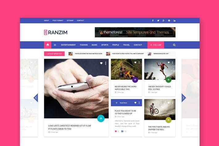 Ranzim Magazinenews Responsive Html Template By Wpmines Web