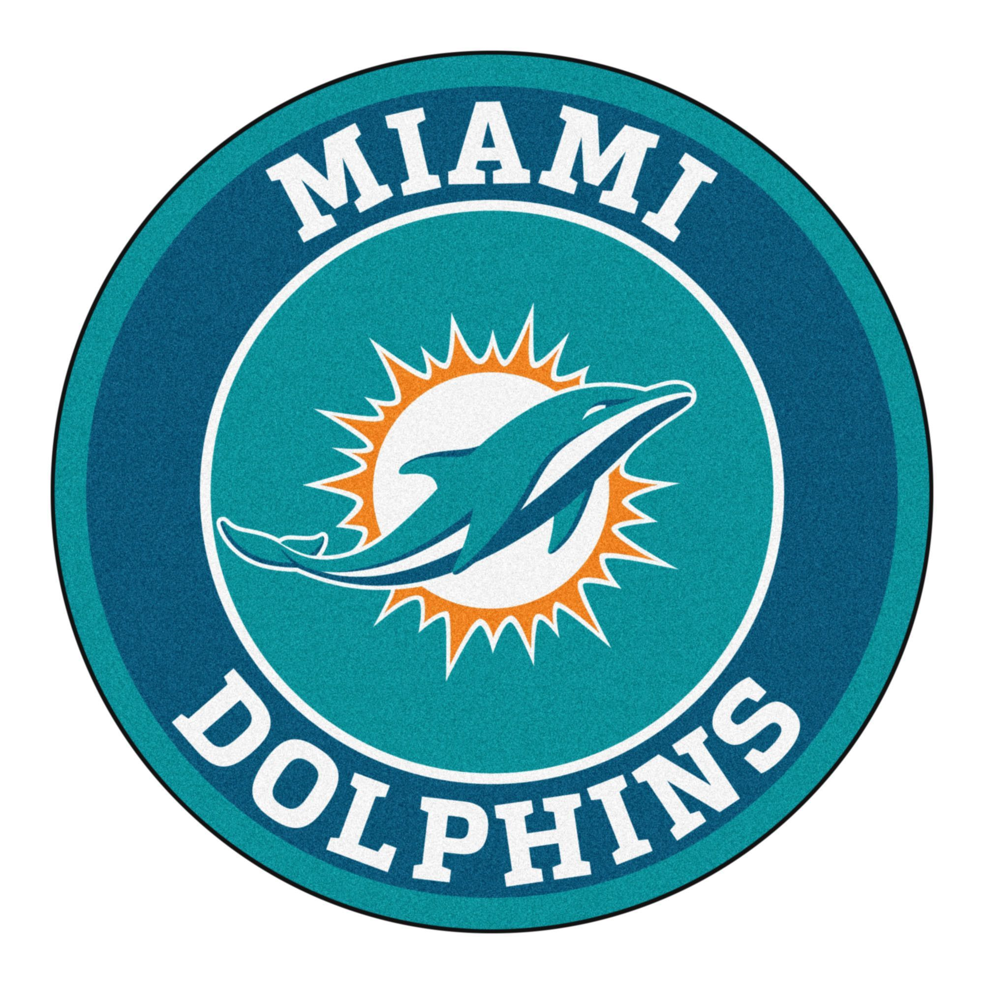 Roundel Mat Miami Dolphins Products Miami Dolphins
