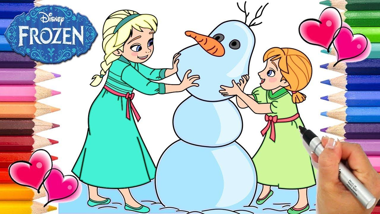Frozen Baby Elsa, Anna And Olaf | Frozen Baby Elsa And Anna Coloring Boo.