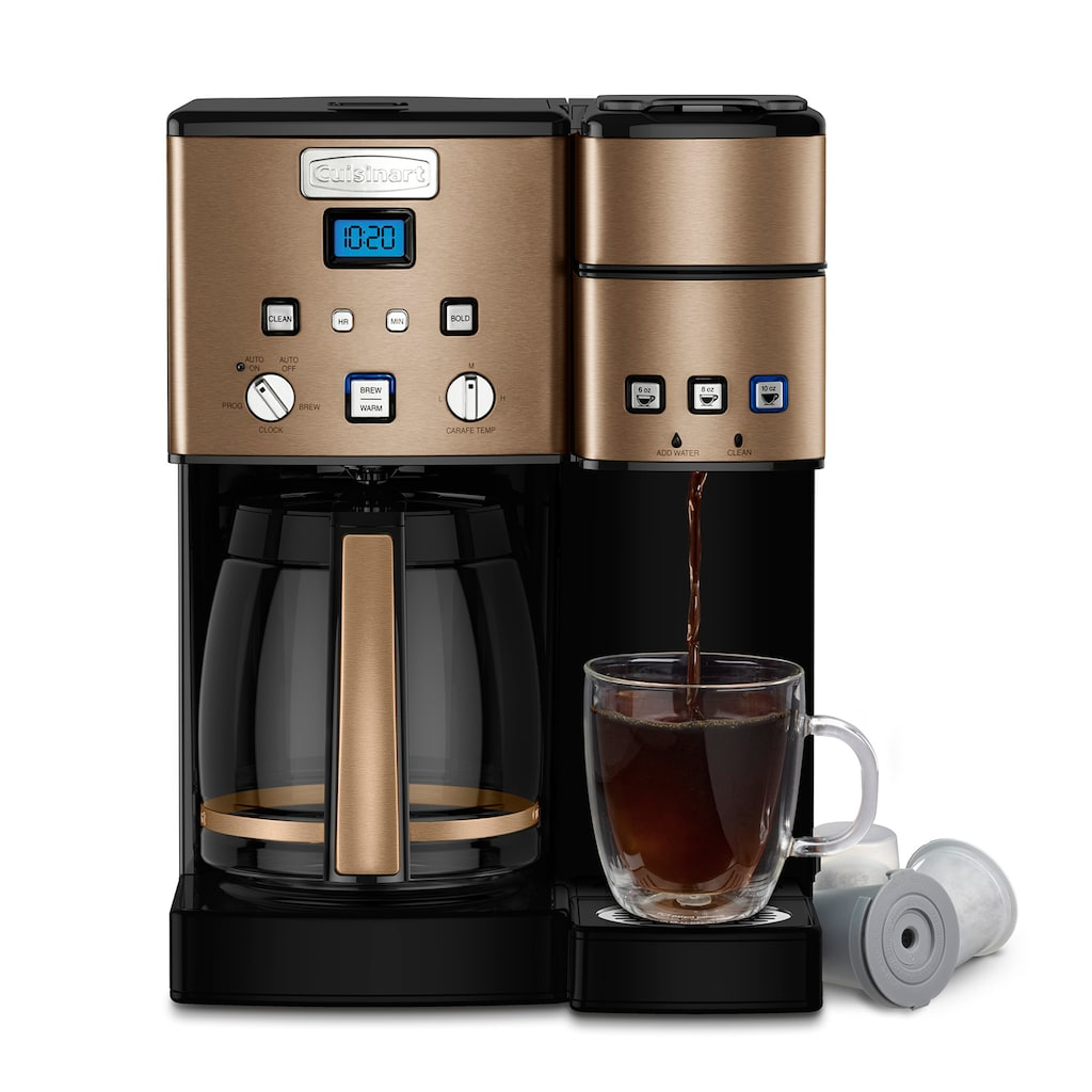 Cuisinart 12Cup Coffee Maker & SingleServe Brewer, Brown